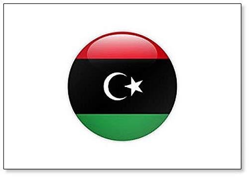 Libyen-Flagge auf Knopf, klassischer Kühlschrankmagnet