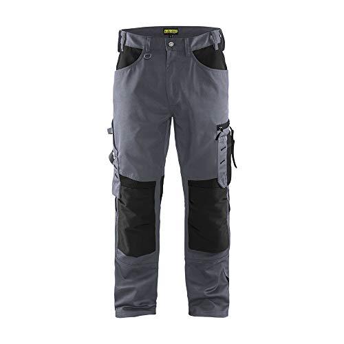 Blaklader 155618609499D104 Pantalones de trabajo sin bolsillos para las uñas, color gris/negro, talla D104