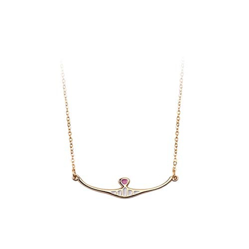 Hasayo Smile Pendant Necklace for Women, Zinc Alloy, for Wife Mom Girls Anniversary Birthday Christmas, 44 cm / 17.3' Chain