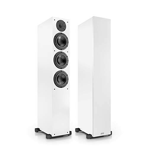 Nubert nuBox 513 Standlautsprecherpaar | Lautsprecher für Stereo & Musikgenuss | Heimkino & HiFi Qualität auf hohem Niveau | Passive Standboxen mit 2.5 Wegen | kompakte Standboxen Weiß | 2 Stück
