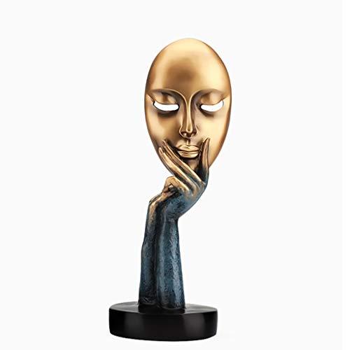 LZL Estatuas Pensador Escultura Decoración Modelo Sala de Estar Creativa TV Gabinete Modelo Sala de Resina Artesanal Display Figuritas (Color : A)