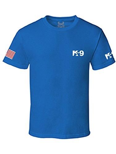 Gs-eagle Men's K-9 Police Graphic T-Shirt XLarge Royal Blue