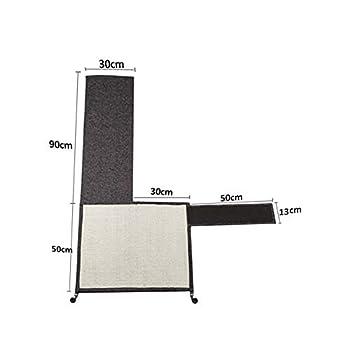 PUCHIKA Tapis griffoir en sisal naturel pour canapé, fauteuil, beige, gris