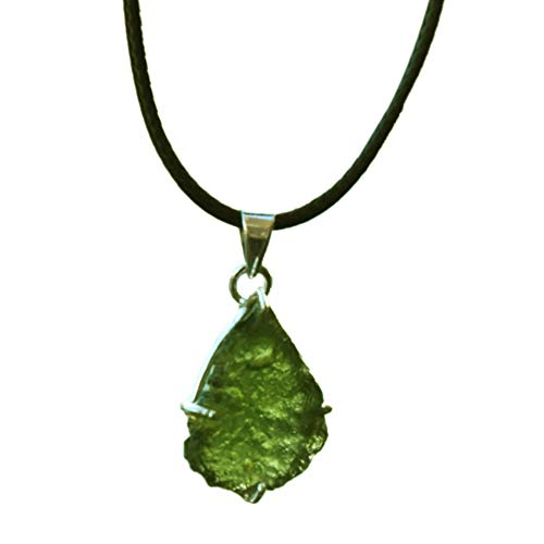 Shivansh Creations Genuine Moldavite Tektite Meteorites Crystals Healing Stones Suitable for Ring Pendant Reiki Crystal Jewelry Necklace Bracelet Earring from Czech Republic (Pendant)