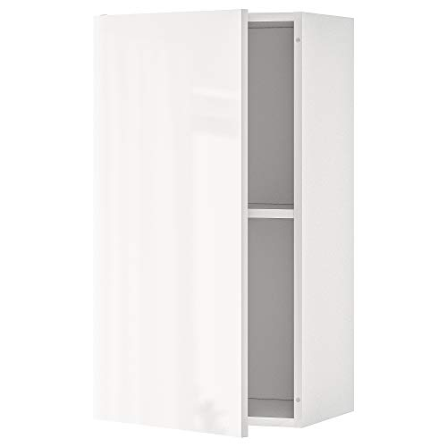 KNOXHULT armario de pared con puerta 40x31x75 cm blanco brillante
