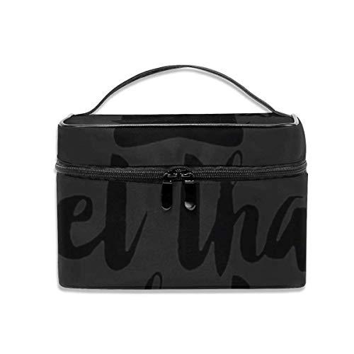 Let That Shit Go Travel Makeup Train Case Makeup Cosmetic Case Organizer Portable Artist Storage Bag