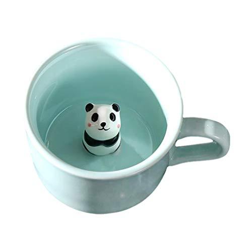 Baoblaze Überraschung 3D Kaffee Becher Niedlich Cartoon Tier Keramik Tasse Baby Tiere Im Inneren, Beste Büro Tasse Geburtstag Geschenk 7 UNZEN - Panda