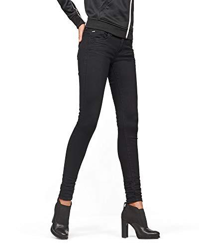 G-STAR RAW Damen Lynn D-Mid Waist Super Skinny Jeans, Schwarz (Rinsed 082), 29W/32L