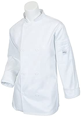 Mercer Culinary M60020WH3X Millennia Women's Cook Jacket with Traditional Buttons, 3X-Large, White