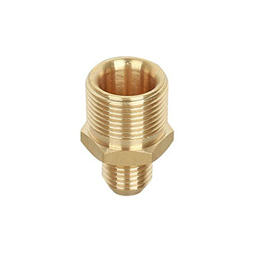 SENRISE Hochdruckreiniger-Verbindungsstück 22 mm weiblich auf 14 mm männlich Hochdruckreiniger-Adapter, Messing-Schraube, Schlauchverbinder (1 Stück), gold