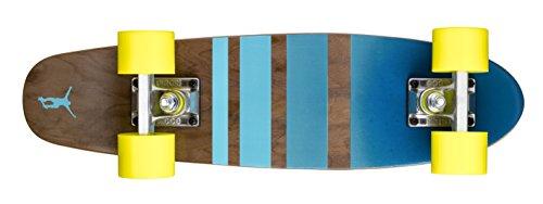 Ridge Erwachsene Maple Holz Mini Cruiser Number Three Skateboard, Gelb