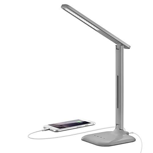Toplek LED-Schreibtischlampe mit dimmbarem USB-Anschluss, 42 LEDs, 5...