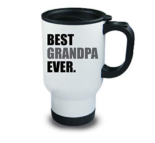 Meilleur Grand-Père jamais Métal tasse de voyage Gris fête des Pères Anniversaire Noël