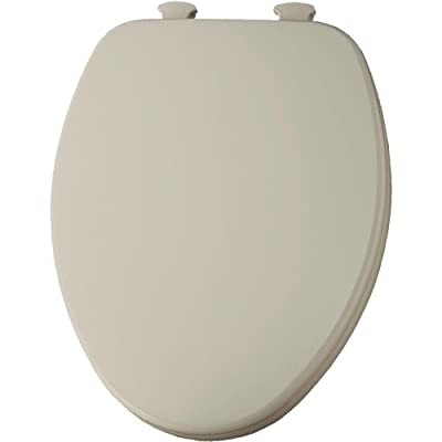 Elongated Closed Front Toilet Seat with Easy Clean and Change Hinges