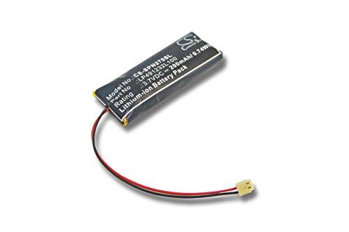 vhbw Akku kompatibel mit Sony PSP N270, N270G Wireless Headset Kopfhörer (200mAh, 3,7V, Li-Polymer)