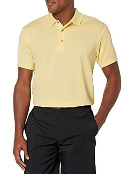 PGA TOUR Men s Airflux Short Sleeve Solid Golf Polo-Shirts Pale Banana XXL