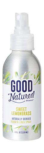 Good Natured Brand Room & Linen Spray, Sweet Lemongrass, 4 Oz. - All-Natural and Non-Toxic Aromatherapy