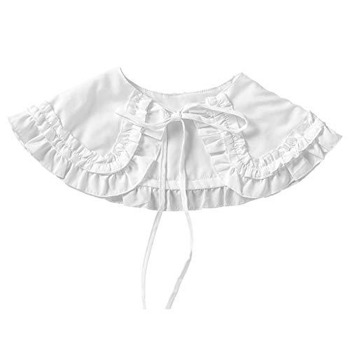 Tandou Schön Damen Blusenkragen Mit Schleife Lolita, Abnehmbare Krageneinsatz Für Pullover Accessoires