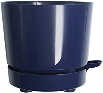 8  Self Watering + Self Aerating High Drainage Deep Reservoir Round Planter Pot Maintains Healthy Roots for Indoor & Outdoor Gardens  Blue