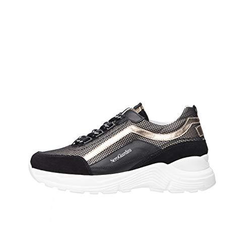 NeroGiardini A931202F Sneakers Teens da Ragazza in Pelle, Camoscio E Tela - Nero 32 EU