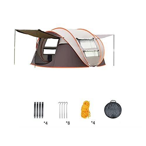 KJLY Tiendas Tunnel Tents 5 Hombre Carpa con porche Redonda Al aire libre Impermeable Pop-Up Tienda Plegable Teepee Garden Camping al aire libre Tienda impermeable, 280 * 200 * 120cm / 110.2x78.7x47.2