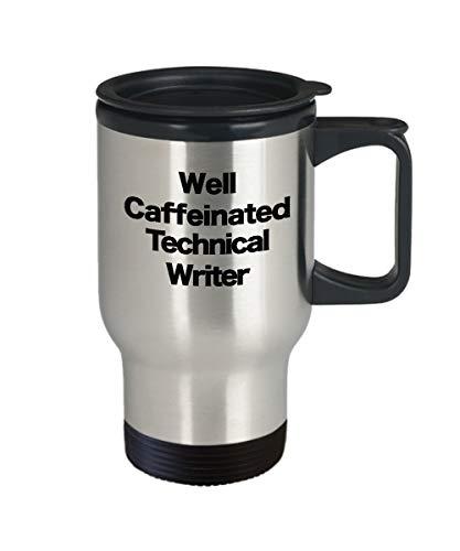 Tasse für technische Schriftsteller, Reise-Kaffeetasse, lustiges Geschenk für Autor, Programmierer, Informatik, Editor, Öffentlichkeitsverkehr, Übersetzer