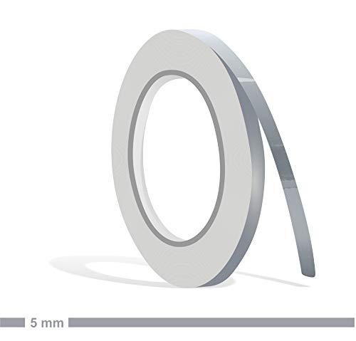 Siviwonder Zierstreifen schiefergrau grau RAL 7000 Glanz in 5 mm Breite und 10 m Länge Folie Aufkleber für Auto Boot Jetski Modellbau Klebeband Dekorstreifen Grey fehgrau