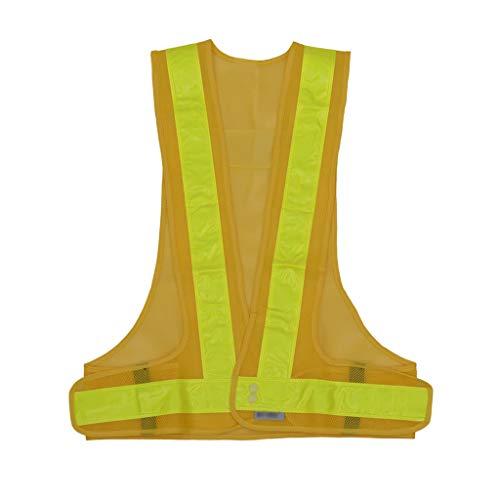 La seguridad Chaleco reflectante tipo V Chaleco de seguridad para montar Ropa reflectante Carretera Ropa reflectante de alta velocidad Ligero (Color : Yellow)