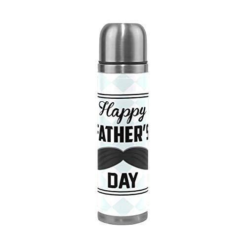 AEMAPE Vintage Lindo Feliz día del Padre Aislado Termo al vacío Taza Termo para Agua Caliente Acero Inoxidable 500 ml ~ A4
