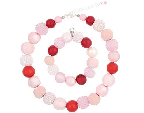 Felit Damessieradenset kleurrijke parelketting & armband + gratis oorbellen, cadeau-ideeën voor vrouwen/zus/mama Chain Necklace cadeauset beste vriendin geschenken kralen halsketting met armketting