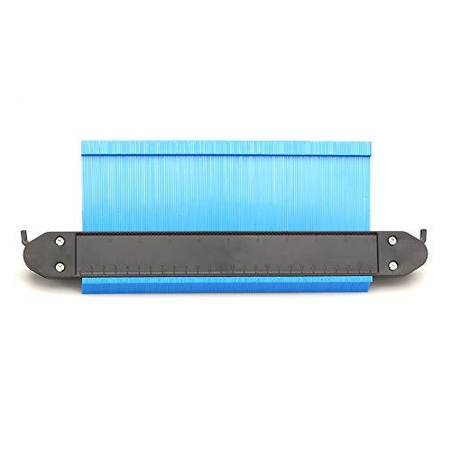 型取りゲージ ロック設計 250mm 幅広タイプ(13cm幅) 「フルフィルメント by Amazon」ABSプラスチック製型取りゲージ 測定ゲージ 測定工具 曲線定規 不規則な測定器 (ブルー)