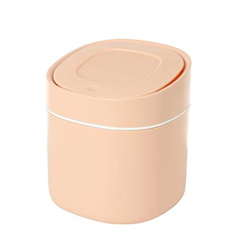 Veemoon Mini Mostrador de Basura de Plástico Mini Papelera Cubo de Basura Dispensador Mini Papelera para Mesa de Café Baño Tocador Superior Color Aleatorio