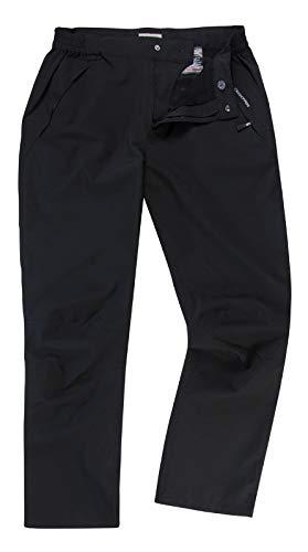 Craghoppers Stefan Trousers CMW680 -Pantalon de randonnée Extensible imperméable - Noir (36 - Petit)