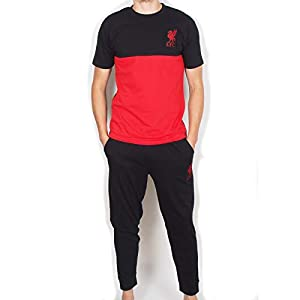 Liverpool FC Official Football Gift Mens Premium Long Pajamas Set