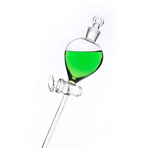 KugelföRmiger Tropftrichter/Scheidetrichter Mit Glaskolben Standardhahn Dickwandiges Transparentes Laborglasinstrument, 60 Ml Zur Aufbereitung Von Chemischem Gas