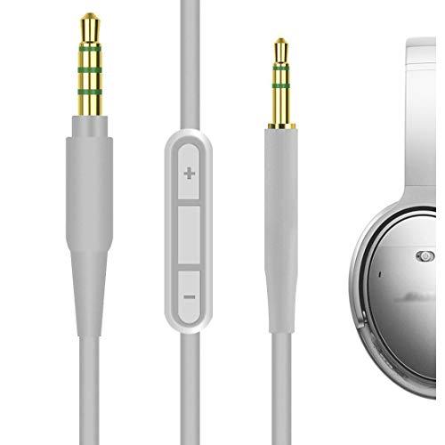 1-Pack, 5FT Mr Rex 3.5mm to 2.5mm Aux Cable Cord for Bose 700 QuietComfort QC35II QC35 QC25 Noise Cancelling Headphones JBL E45BT E55BT E65BTNC Bluetooth Earphone Audio Replacement Wire