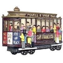 San Francisco Magnet Ceramic Poly 3D Cable Car People 56583 by City Coffee Mugs