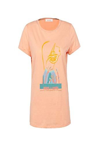 Promod T-Shirt mit Pailletten Lachsrosa M