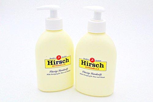 2x Hirsch Zitronella Flüssige Seife 500ml milde Handseife Kernseife Körperseife Kombipack