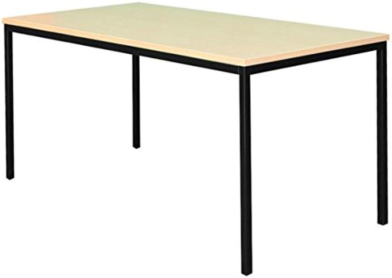 Schreibtisch Buche Dekor Profi Besprechungstisch Bürombel Verkaufstisch Computertisch 200x100cm 331141