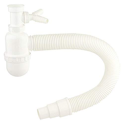 Flaschengeruchsverschluss für Spüle, Kunststoff-Siphon, Geruchsverschluss für Küche, Küchenspüle, Flexibles Abgangsrohr