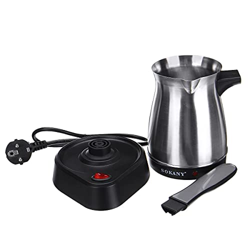 Coffee Make 500ml Stainless Steel Separated Italian Mocha Pot Greek Turkish Electric Coffee Pot Portable Espresso Machine 220V