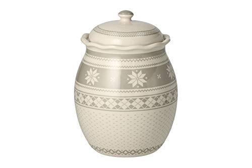 Andrea Fontebasso Barattolo in Ceramica per Caramelle Biscotti Christmas Polaris (h 20,5 Cm)
