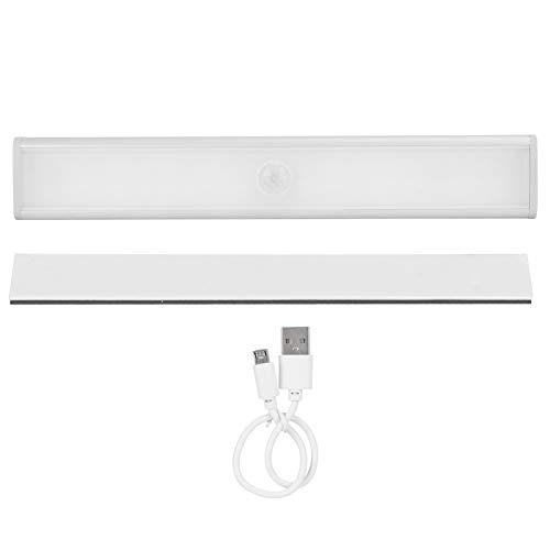 Omabeta Luz de Sensor de Movimiento 800 mah USB Recargable cajón Ajustable luz de Armario Debajo del Armario Adecuado para escaleras, cocinas, dormitorios, armarios