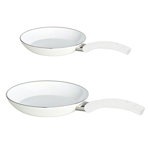 BALLARINI Keramik Bratpfannen Set weiß 2-teilig 20 cm + 26 cm Antihaft Alu Pfanne Pfannenset Bratpfannenset Antihaftbeschichtung