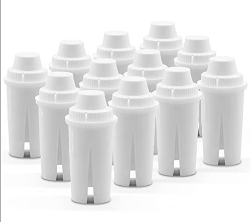 SOKANA Reemplazo del Cartucho del Filtro de Agua Compatibles con Jarras BRITA Classic (Suministro para 12 Meses) - Reducen la Cantidad del Cloro, Sedimentos y Metales Pesados   Juego de 12 Piezas