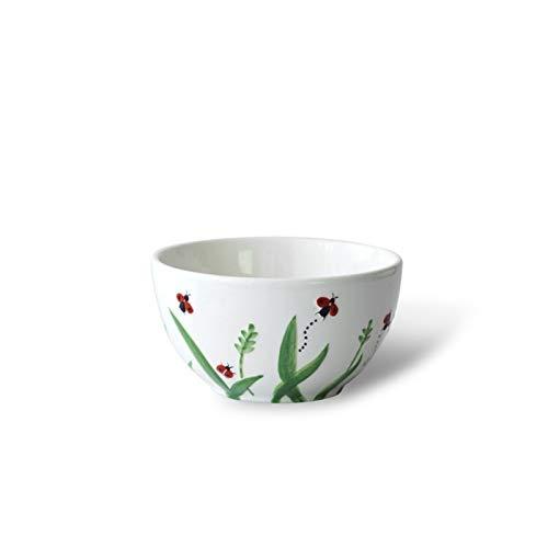 H/A Dibujado a Mano Personal Creativo en Relieve en Relieve Cuenco Conjunto de recipientes Mariquita Floral Estilo vajilla Hotel PANGP (Color : Bowl, Size : 1 Head)