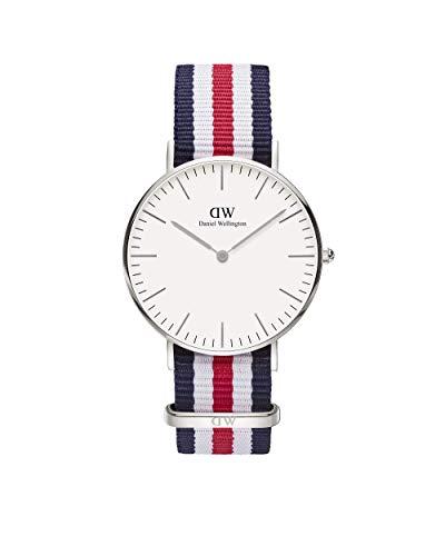 Daniel Wellington Damen-Armbanduhr Canterbury Analog Quarz Nylon DW00100051