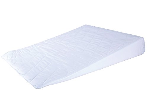 Luxury Bed Sleep Wedge with Quilted Cover - Foam Support Pillow Acid Reflux, Prop up, Heartburn and Indigestion Mattress Tilter