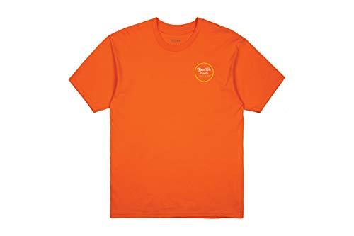 BRIXTON Apparel Wheeler II S/S Stnd T-Shirt pour Homme XL Orange/Gelb